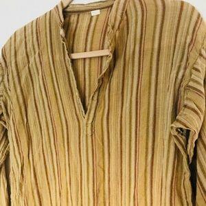 Vintage Linen striped hippie top
